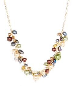 Look at this #zulilyfind! Faux Pearl Cluster Necklace by Embassy Jewels #zulilyfinds