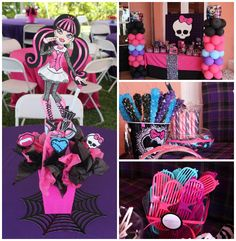 Monster High Themed Birthday Party with Lots of Really Cute Ideas via Kara's Party Ideas KarasPartyIdeas.com #MonsterHighParty #MonsterHighC...