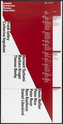 Columbia University, Graduate School of Architecture, Planning and Preservation Lecture Series Fall 1989 Willi Kunz
