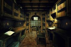 Library Room - The Library room of La Granja De Esporles, a 17th-century mansion of Majorca's traditions and history.