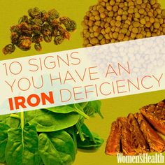 Signs You Have an Iron Deficiency If you spot these telltale symptoms, get yourself a spinach and steak salad, stat!If you spot these telltale symptoms, get yourself a spinach and steak salad, stat! Health And Nutrition, Health And Wellness, Health Fitness, Women's Health, Fitness Foods, Health Facts, Health Benefits, Fitness Tips, Healthy Tips