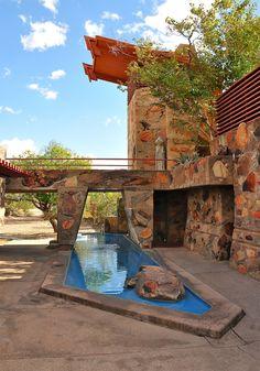 Taliesin West. Scottsdale, Arizona. 1937. Frank Lloyd Wright's winter home