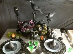 Fun and spooky Halloween entertaining ideas. http://www.diynetwork.com/how-to/make-and-decorate/decorating/halloween-party-ideas-create-spooky-centerpieces-and-table-settings-pictures >>