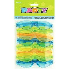 Party Favors - 8-Pack Cool Kids Glasses, Assorted Colors