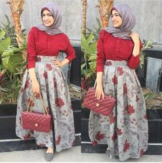 Summer puffy maxi skirts with hijab – Just Trendy Girls Cheap Short Prom Dresses, Modest Dresses, Modest Outfits, Trendy Outfits, Casual Dresses, Hijab Style Dress, Hijab Look, Hijab Outfit, Skirt Fashion