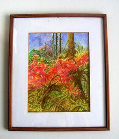 Print Of Original Watercolor Woodland Forest by JannaChaykaGallery