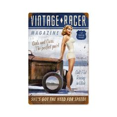 Vintage and Retro Wall Decor - JackandFriends.com - Vintage Racer Vintage Metal Sign 12 x 18 Inches, $44.97 (http://www.jackandfriends.com/vintage-racer-vintage-metal-sign-12-x-18-inches/)