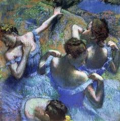 Blue Dancers by Edgar Degas (1899)