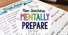 Feeling anxious about starting your first year of teaching? Find out how establishing your vision and prioritizing to-do lists can help you prepare mentally. First Year Teaching, New Teachers, Teacher Hacks, Classroom Organization, Anxious, Mindfulness, Future, Feelings, Classroom Setup