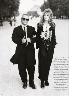 ☆ Karl Lagerfeld & Claudia Schiffer | Photography by Patrick Demarchelier | For Harper's Bazaar Magazine US | October 1992 ☆