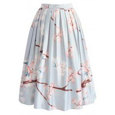 "These cherry blossoms are popping! This skirt boasts an enlarged floral print that screams, ""Spring bombshell alert!""  - Floral pattern - Box pleats from waist - Inserted side pockets - Concealed side zip closure  - Lined - 100% Polyester - Machine washable Size(cm)Length   Waist XS                 73          64 S                  73          68           M                 73          72 L                  73          76 XL                73          80  XXL              73          84…"