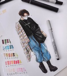 Fanart Bts, Jungkook Fanart, Bts Jungkook, Kpop Drawings, Art Drawings Sketches Simple, Colorful Drawings, Bts Art, Desenhos Gravity Falls, Bts Wallpaper