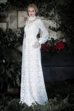 Une robe de mariée élégante imaginée par l'incontournable créatrice Manon Pascual.