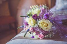 Pretty purple bridal bouquet | Photo by Nick Murray