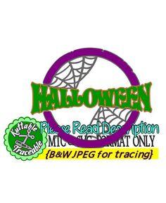 Halloween Circle Stamp #06 Cut Files MTC  SVG Format w/traceable B&W JPEGS