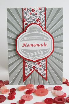 American Made Stamp set from Becky Oehlers (Gina K Designs) Creative Cards, Creative Ideas, Scrapbook Cards, Scrapbooking, Red And Grey, Cool Cards, Trees To Plant, Large Prints, Albums