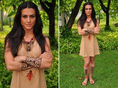 Algumas fotos da Cleo Pires como a índia Estrela!