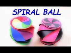 DIY SPIRAL paper BALL - YouTube