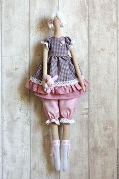 Купить - Claire - тильда - бледно-розовый, кукла, кукла Тильда, кукла ручной работы