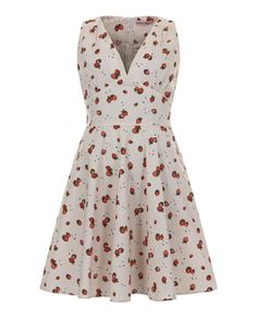 339 - Maralyn Swing Dress - Peach Strawberry