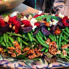 green bean & roast beet salad.