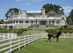 This Greenwich, Conn., property features indoor and outdoor riding arenas