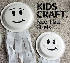 Halloween Crafts: Paper Plate Ghosts (10-minutes and less than 4-dollars!)