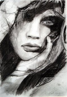 The shading, deep/light lines and scribbling in the hair really add a lot of depth and character to this picture while still being realistic.  You can see/feel the raw emotion coming off the woman, especially when you look in her eye.  The detailing in the hands are also very beautiful. (Module 8)