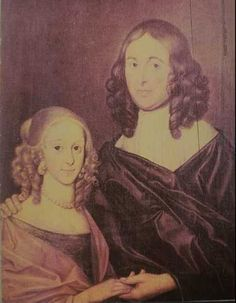 This is a portrait of William Shakespeare's twin daughters, Hamnet and Judith