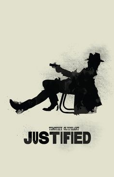 Justified 11 x 17 Minimalist Movie Poster by Printwolf on Etsy