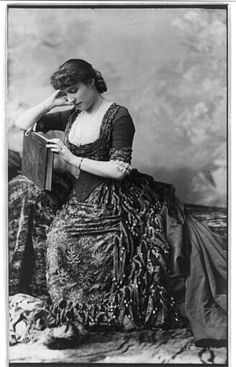 happygolovely:  Portrait of actress Lillie Langtry (1853-1929), c. 1882. From the Library of Congress.