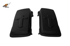 RS hard saddlebag lids cross design for touring 1993-2013 Image