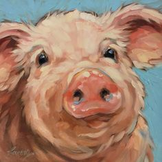 Tweeted this little piggy. Available in my etsy shop. Link in profile. #pigs #pigsofinstagram #brushstrokes #colorful #nurserydecor #pigpainting #originalart #art #whimsical #laveryart #etsy #piglovers #colorfulart #dailypainting #oilpainting...