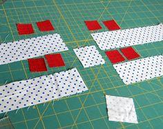 "Sashing with Stars Pieces 2"" sashing strips. 2"" square. 1 1/2"" star points."