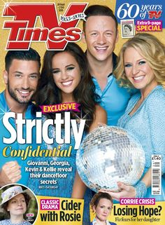 Check out today's sparkly #Strictly cover with the fab @kelliebright76 @georgiafoote @keviclifton @pernicegiovann1!
