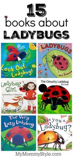 Books about lady bugs 15 books about ladybugs perfect for a preschool bug theme or ladybug theme Preschool Bug Theme, Preschool Books, Preschool Lessons, Preschool Garden, April Preschool, Montessori Books, Preschool Schedule, Preschool Ideas, Grouchy Ladybug