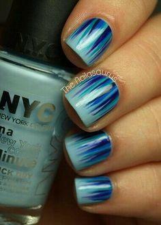 Blue night nails