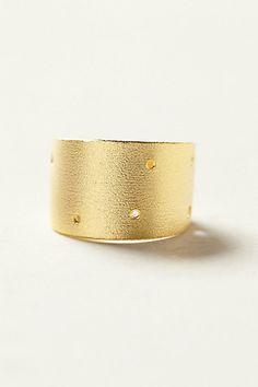 Brass Zodiac Cuff Ring - Gemini