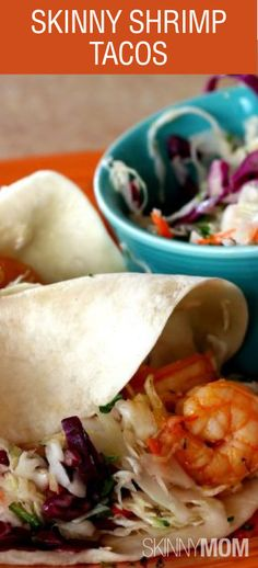 Skinny Shrimp Tacos is one of my favorite go-to meals! Love this for lunch and dinner because you can make these versatile every time!grilled shrimp w/homemade slaw. Skinny Recipes, Ww Recipes, Fish Recipes, Seafood Recipes, Mexican Food Recipes, Dinner Recipes, Cooking Recipes, Healthy Recipes, Cooking Ideas