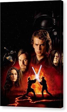 Star Wars Canvas Print - Star Wars Episode IIi - Revenge Of The Sith 2005 by Fine Artist