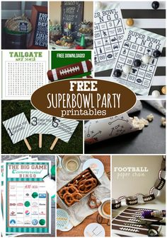Are you ready for the big game? We've collected some fabulous free superbowl party printables to help you celebrate in style!
