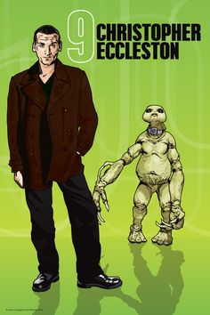 Doctor Who - Christopher Eccleston and Slitheen #doctorwho #poster