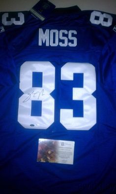 Sinorice Moss Signed New York Giants Authentic Jersey GAI 814a1f667