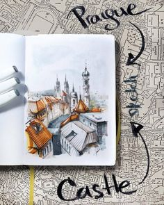 Small journal, sketchbook, illustration, travel sketching, трэвел скетчинг, зарисовки в путешествиях, быстрые зарисовки, наброски, urban sketchers, world, building, cities, moleskine, travelers notebook, маркеры