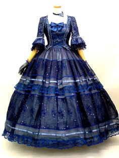 HISTORICAL TURQUOISE & BLUE DRESSES