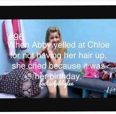 Awwww poor chloe. I bet Abby didn't even day happy bir