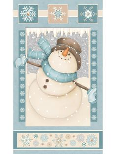 I Still Love Snow Flannel By Shelly Comiskey Snowman Panel Flannel Fabric Winter Christmas Flannel Fabric by Henry Glass Christmas Clipart, Christmas Printables, Christmas Pictures, Christmas Snowman, Christmas Time, Christmas Crafts, Christmas Ornaments, Xmas, Cute Snowman