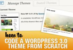 With the release of WordPress came the implementation of many new features to the popular content management system. In this tutorial we are going to show you exactly how to code a WordPress theme. Wordpress Help, Wordpress Template, Ui Web, Web Design Tutorials, Web Inspiration, Blog Tips, Web Development, Marketing And Advertising, Photoshop