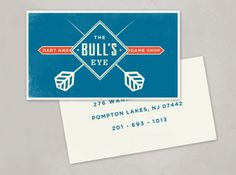 BULL'S EYE    The finished logo and some proposed options for a dart and game shop.