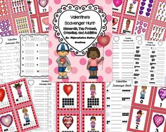 Valentine's Math Scavenger Hunt: Numerals, Ten Frames, Counting and Cardinality. Preschool, Kindergarten, Homeschool, Special Education.  Differentiated. $